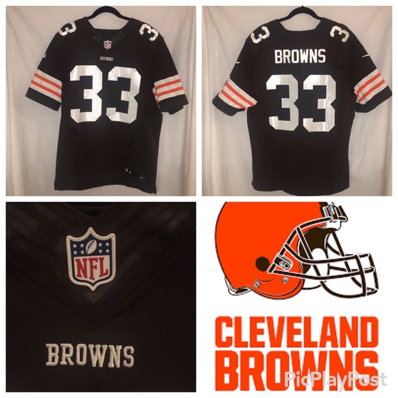 low cost b43ab f41cb MAKE AN OFFER Cleveland Browns Official NFL Jersey
